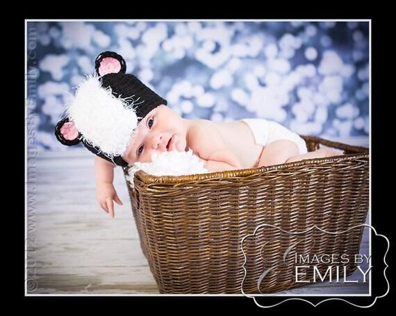 Skunk Hat - (fits Babies, Toddlers, Children)