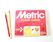 Metric Flash Cards 1976 Great Graphics Vintage