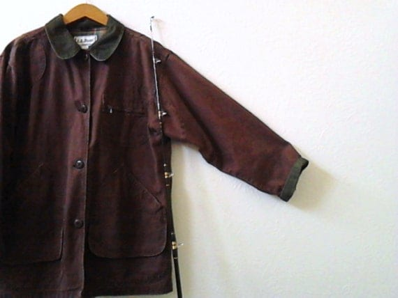 vintage ll bean brown field jacket coat hunting wear Father's Day Dad for him gift idea