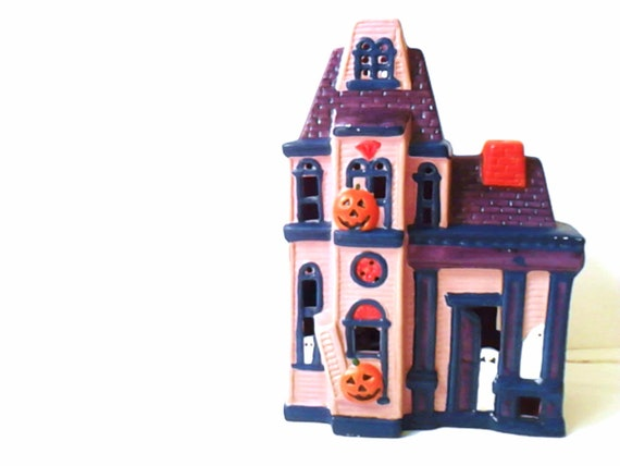 Halloween Haunted House Flashing Lights Scary Spooky Decoration Vintage