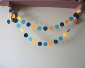 Aquatic Sunset, Paper Garland, party decoration, home decor, bright neon
