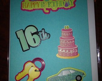 Sweet Sixteen Birthday card