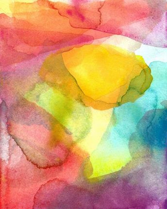 Abstract Art Print,16 x 20, Dreams of Happiness