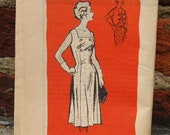 Vintage Anne Adams Instructor 4780 / Square Collar dress pattern / Full Skirt / Dress Pattern / Bust 45