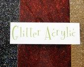 Glitter Acrylic Upgrade for Earrings