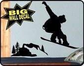 Huge Vinyl SNOWBOARD Wall Decal sticker mural for Bedroom Wall - burton