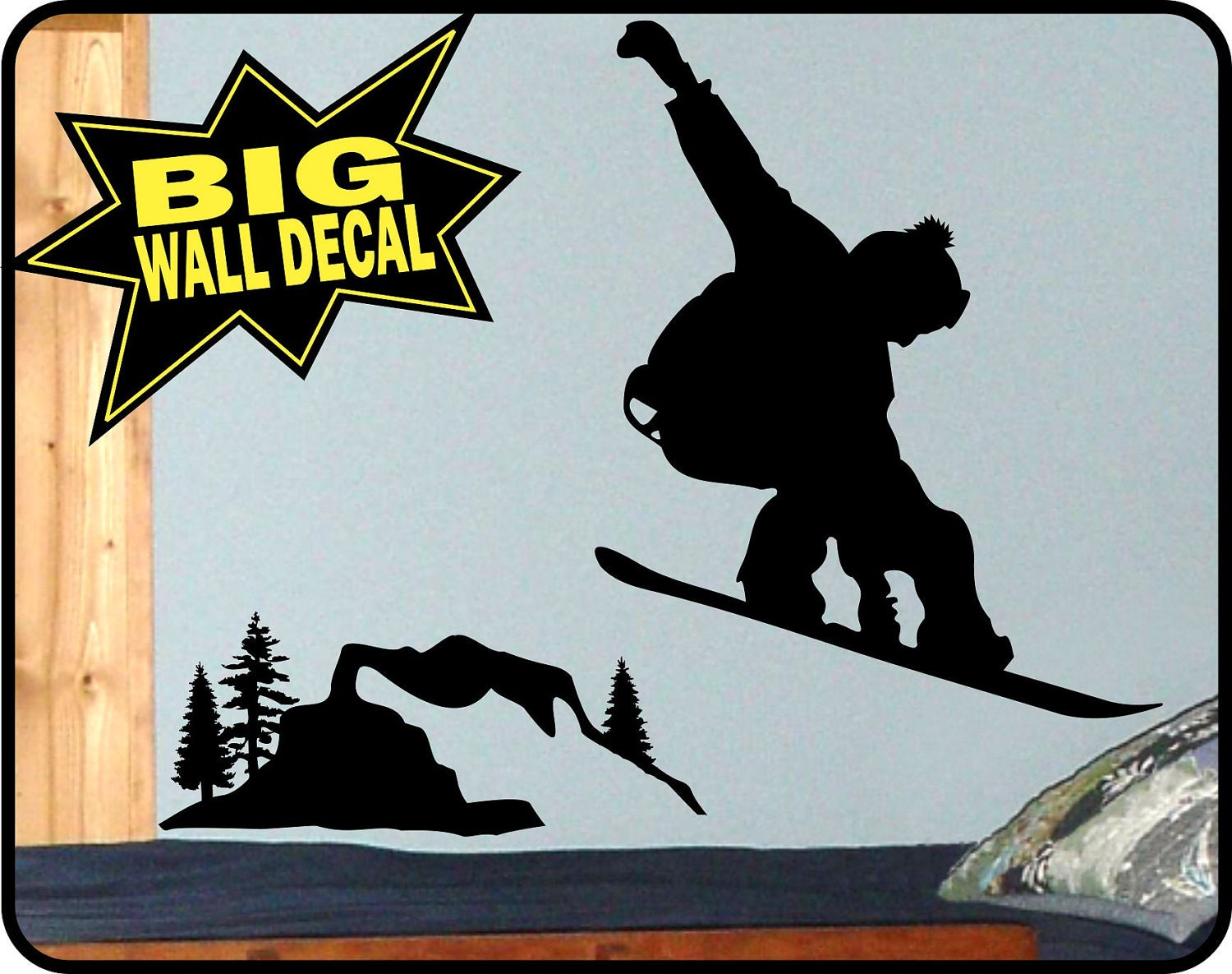 Snowboard wall mural todosobreelamorfo snowboard wall mural snowboard wall decal sticker mural for bedroom wall burton amipublicfo Image collections