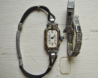 """Rare Art Deco Exello Watch Co. """"Geneve"""" Wristwatch with 20K Gold Case"""