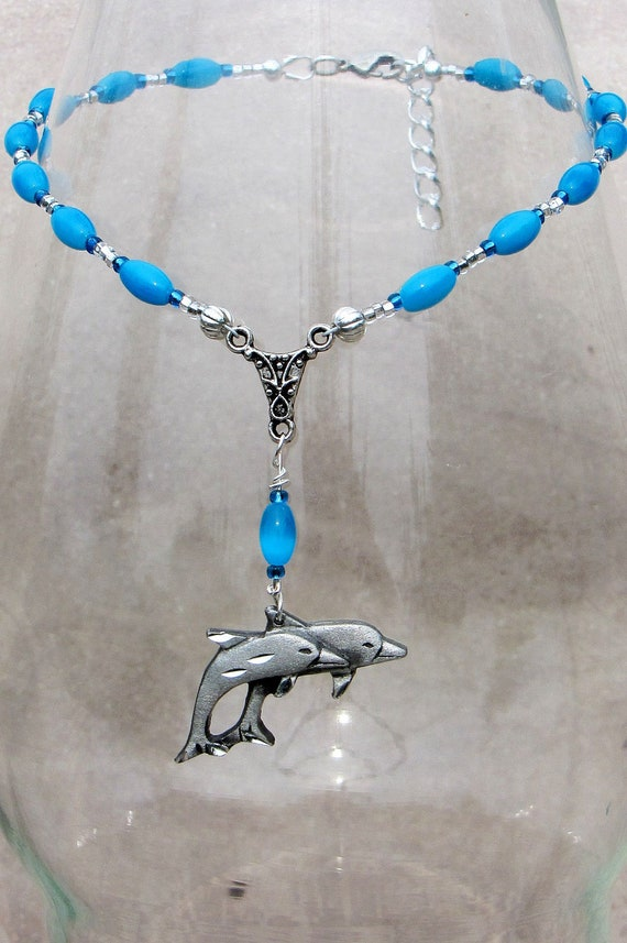 Swimming Dolphins Ankle Bracelet