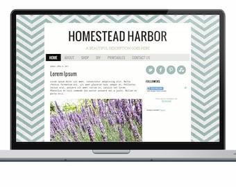homestead trail premade blogger template