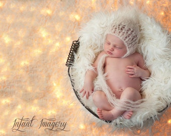 Knitting Pattern - Lace Baby Pixie Bonnet - Snowflake Pixie Bonnet - Sizes Newborn Through 1-3 Years Included  - Instant Digital Download