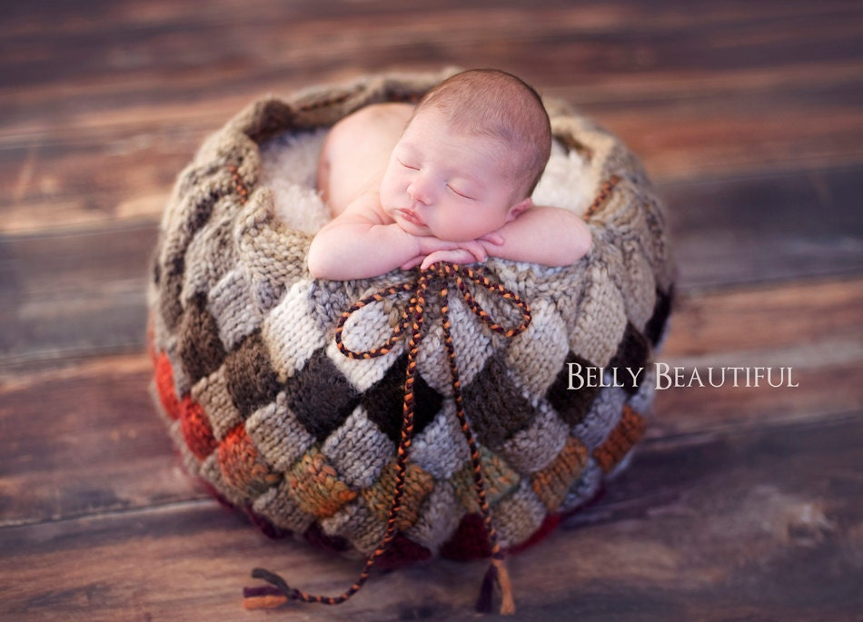 Knitting Patterns For Photography Props : Knitting pattern basket baby prop