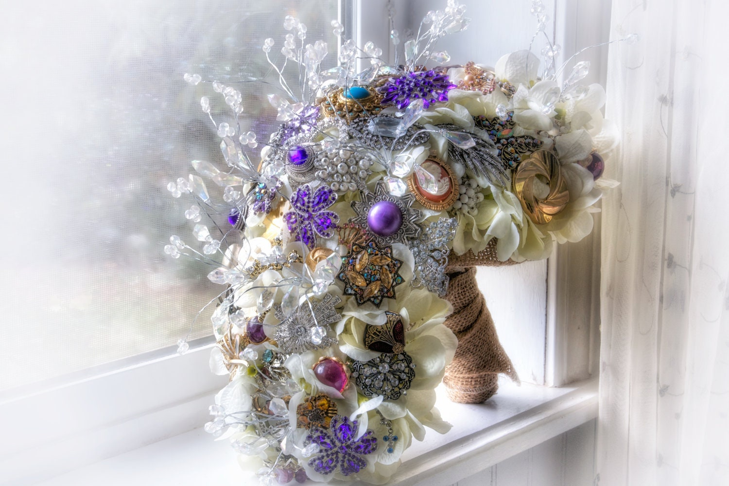 wedding bouquets with bling cascading brooch bouquet vintage wedding bling rhinestone 8537