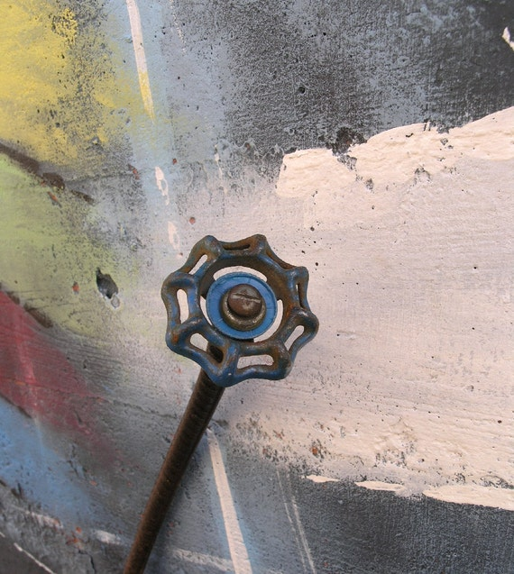 Blue Metal Flower, Industrial Decor for your home or garden.