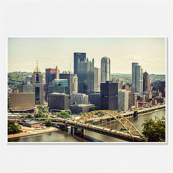 Pittsburgh Skyline: Pittsburgh Skyline Photography Pittsburgh By LisaRussoFineArt