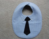 Dress Shirt and Tie Bib---The Little Businessman Bib