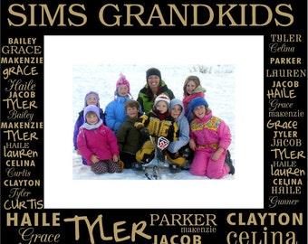 Custom Engraved Grandchildren or Family Photo Frame