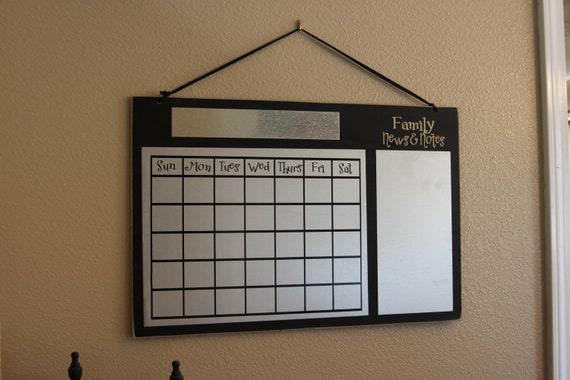 WALL Calendar Large, metal, magnetic reusable, for home or school, classroom, teacher, office -customizable with vinyl lettering