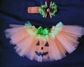 Little Pumpkin tutu set custom made sizes Newborn-4t