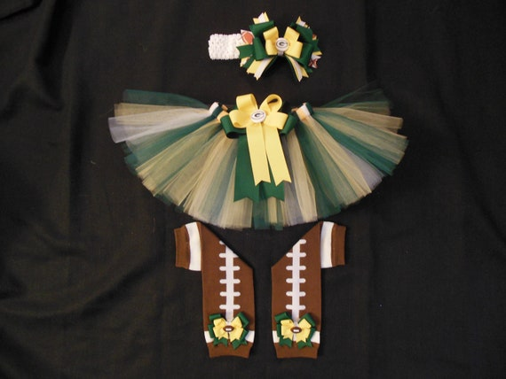 Green Bay Packers inspired tutu set custom made your choice of size up to a 4t
