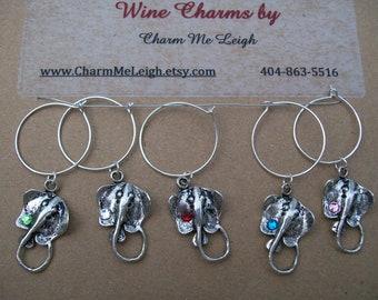 Stingray wine glass charms sea ocean beach diving