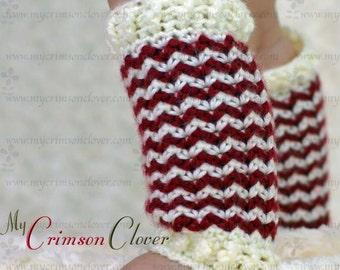 """Baby Leg Warmers Crochet Pattern """"Petite Shells Leg Warmers"""""""
