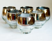 Vintage Mad Men Ombre Low Ball Tumblers Set of Six