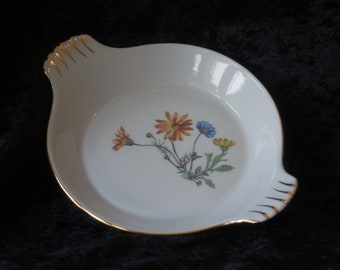 Vintage Le Faune French Floral Dish by Lourivux