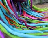Hair falls, Dreads, Festival Hair accessory, wool roving dreads, Fairy hair, Merino wool dreadlocks, Lolita