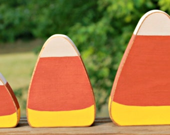 Wooden Candycorn Set