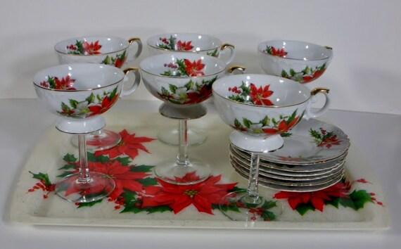 Christmas Vintage teacup wine glasses / tea cup wine glasses / set of ...
