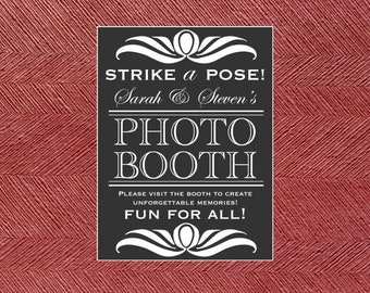 Custom Printable Wedding Photo Booth Sign