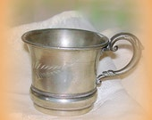 Antique Child's Cup Silver Plated Newborn, Christening, Baptism Warren Silver Plate Co.
