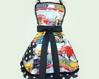 50's Diner and Hot Rods Apron