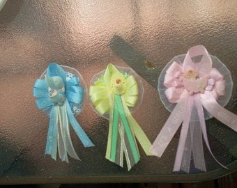 Custom mini  baby shower corsages
