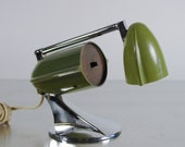 Mid Century Modern Desk Lamp, Rocket Sci-Fi by Hamilton Industries, Space Age, Jet Age Table Lamp, Telescoping Arm.