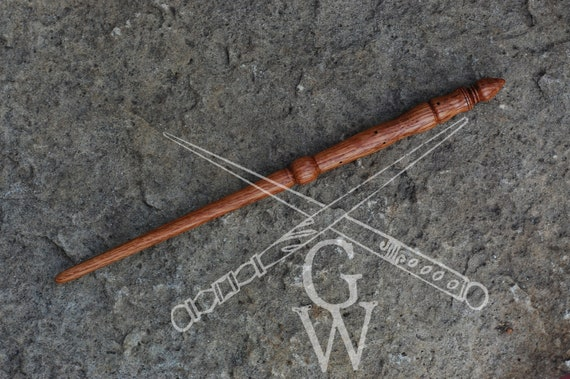 "Handcrafted wood magic wand Red Oak 12.25"" magick great for Harry potter LOTR fans"
