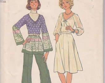 1976 Simplicity 7449 Size 14 Bust 36 skirt top pants sewing pattern simple to sew