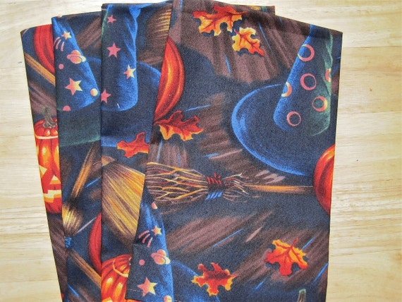 Cloth Napkins Halloween Handmade