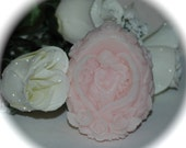 Blush Pink Decorative Art Soap - Angel with Baby Surrounded by Roses - Handmade Goat's Milk Soap ~ Angel Soap
