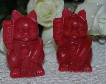 Feng Shui Cat Soap - Kung Fu Kitty Soap - Detergent Free, Vegan Friendly Soap - Set of 2 Cat Soaps
