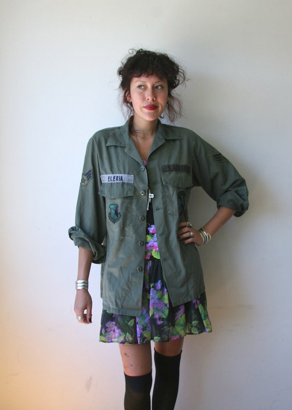 60's Canvas US Army Air Force Jacket Sz M