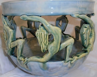Connected: 7 Female Figures Circle of Life Ceremonial Vessel #V&C001
