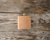 Vegetable tanned 6oz Flask