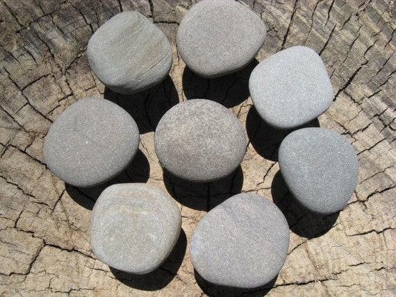 NATURAL Beach Stone Cabinet Knobs GREY