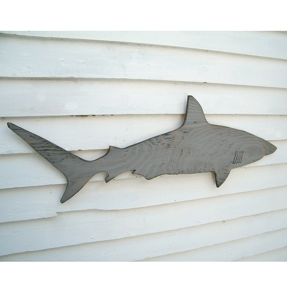 Shark Wall Art wood shark sign medium wall art mako shark sign beach coastal