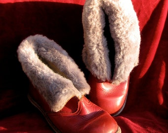 Adorable '50s handmade boots kid's red
