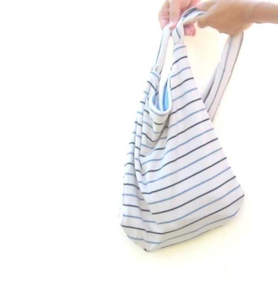 Cross Body Purse. Messenger Purse. Back to School Book Bag. Modern Fall Style. Unisex nautical khaki tan navy blue geometric stripes