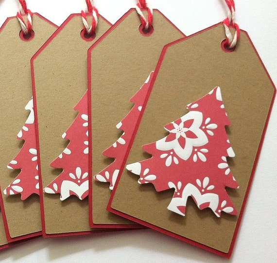 christmas gift tags christmas tree gift tags kraft gift