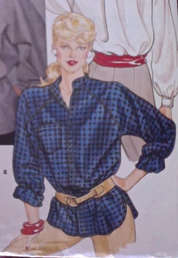 Vintage Blouse Sewing Pattern  Butterick Pattern Size 12 6298
